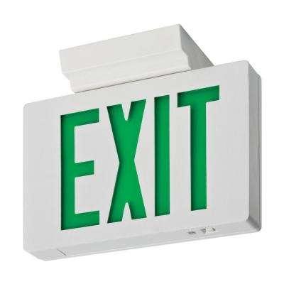 Signature Die-Cast Single Face Green LED Aluminum Exit Sign