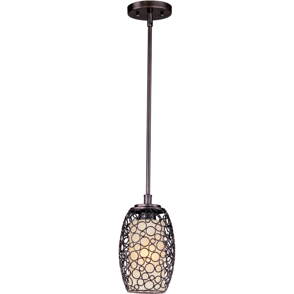 Pendant Drop Tips For Incorporating Pendant Lights Into A: Maxim Lighting Meridian 1-Light Umber Bronze Mini Pendant