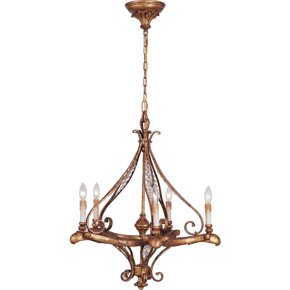 Baroque 5-Light Dark Iron Interior Chandelier