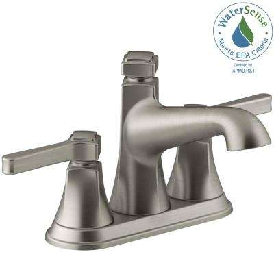 Georgeson 4 in. Centerset 2-Handle Water-Saving Bathroom Faucet in Vibrant Brushed Nickel