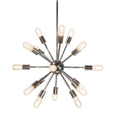 Sputnik 18-Light Polished Nickel Chandelier