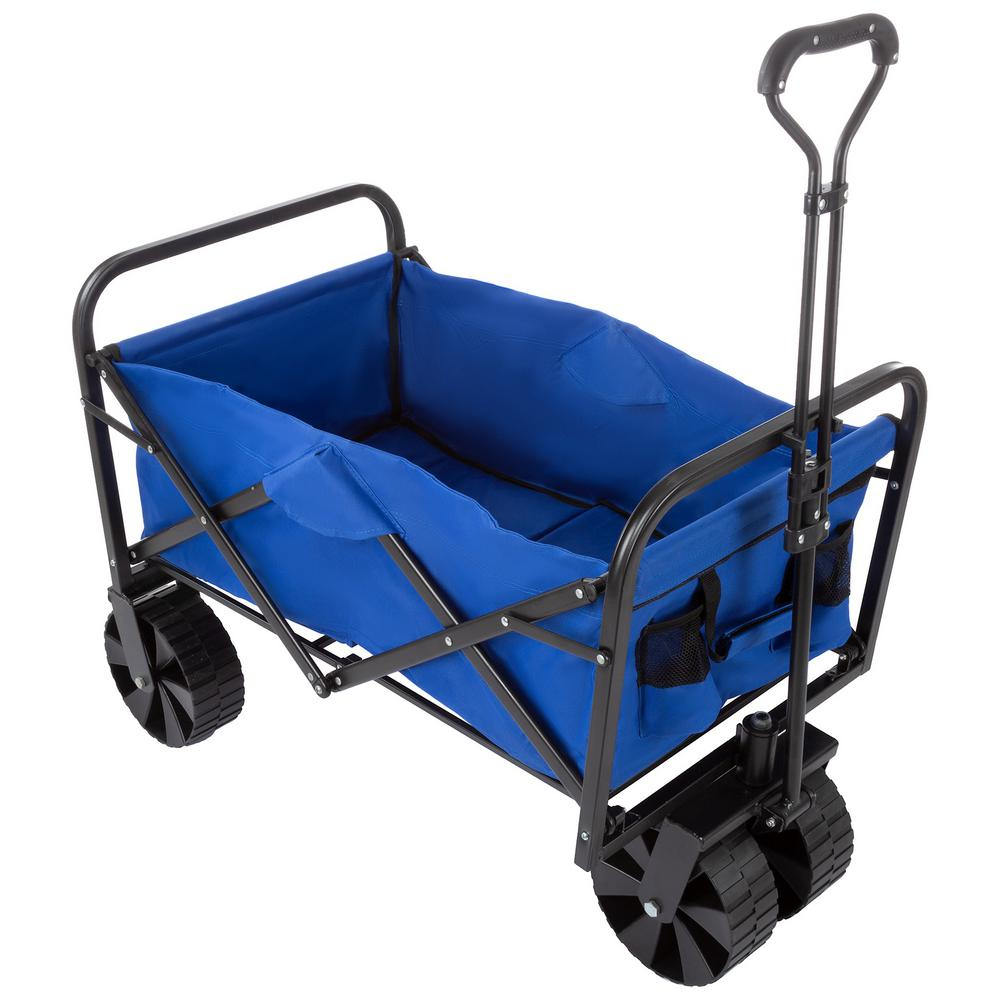 Wakeman Blue All Terrain Folding Camping Beach Wagon With