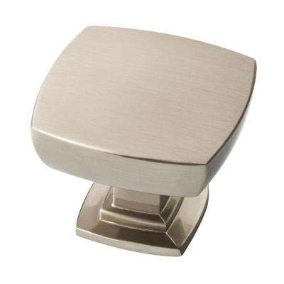 Webber 1-3/8 in. (35 mm) Satin Nickel Square Cabinet Knob (6-Pack)