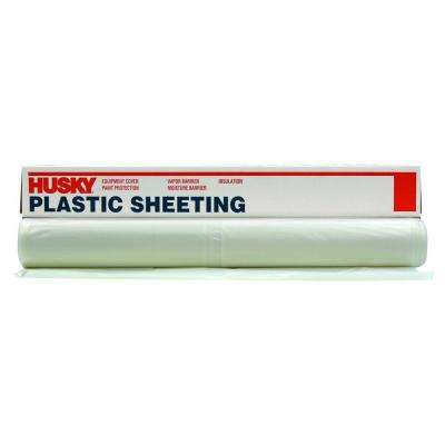 12 ft. x 100 ft. Clear 3 mil Plastic Sheeting