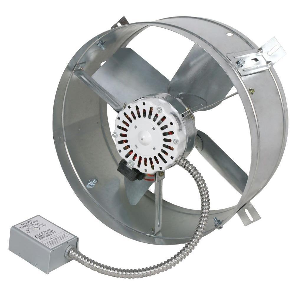 Ventamatic Cool Attic 1600 CFM Power Gable Mount Attic Vent
