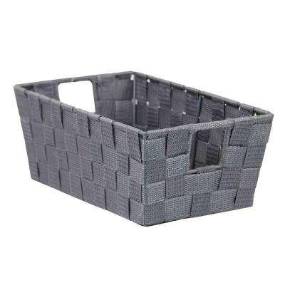 11.5 in. D x 4.5 in. H Gray Non Stackable Bin