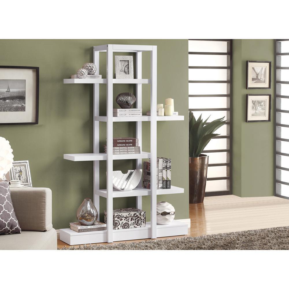 Monarch Specialties 5 Shelf White Display Etagere