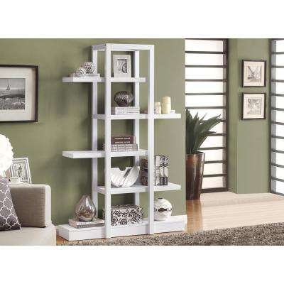 5-Shelf White Display Etagere