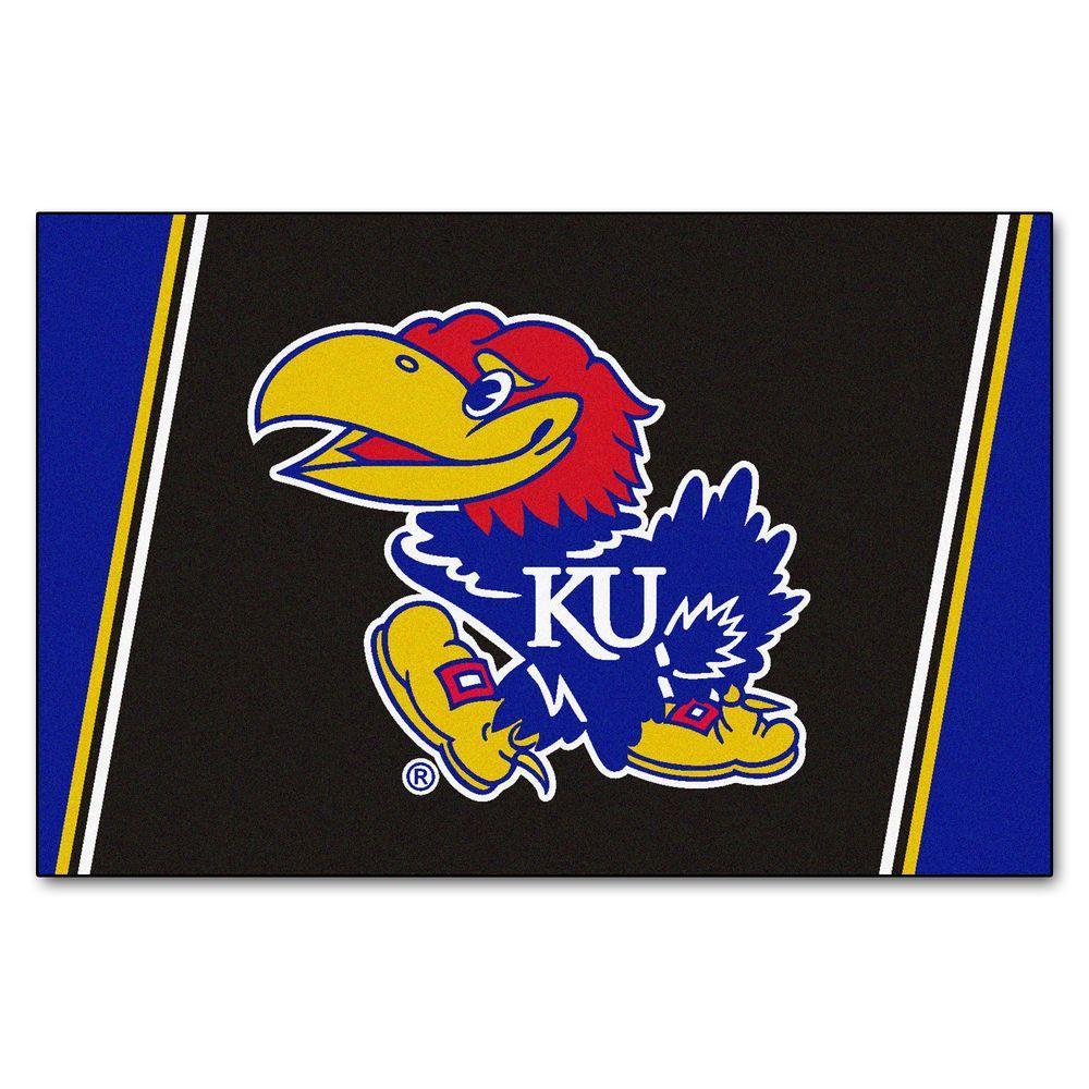 University of Kansas 5 ft. x 8 ft. Area Rug