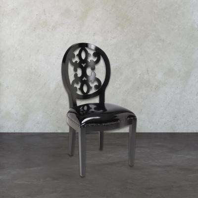 Baroque Black Side Chair