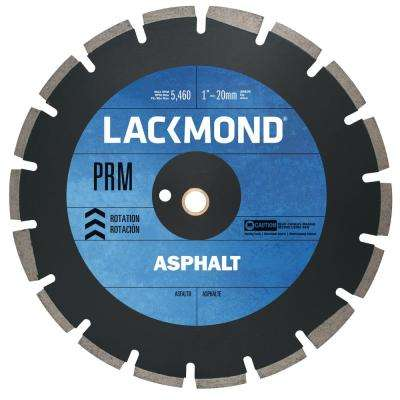 PRM Series Asphalt/Block Blade 16 in. x 0.125 in. - 1 in. 20 mm Arbor
