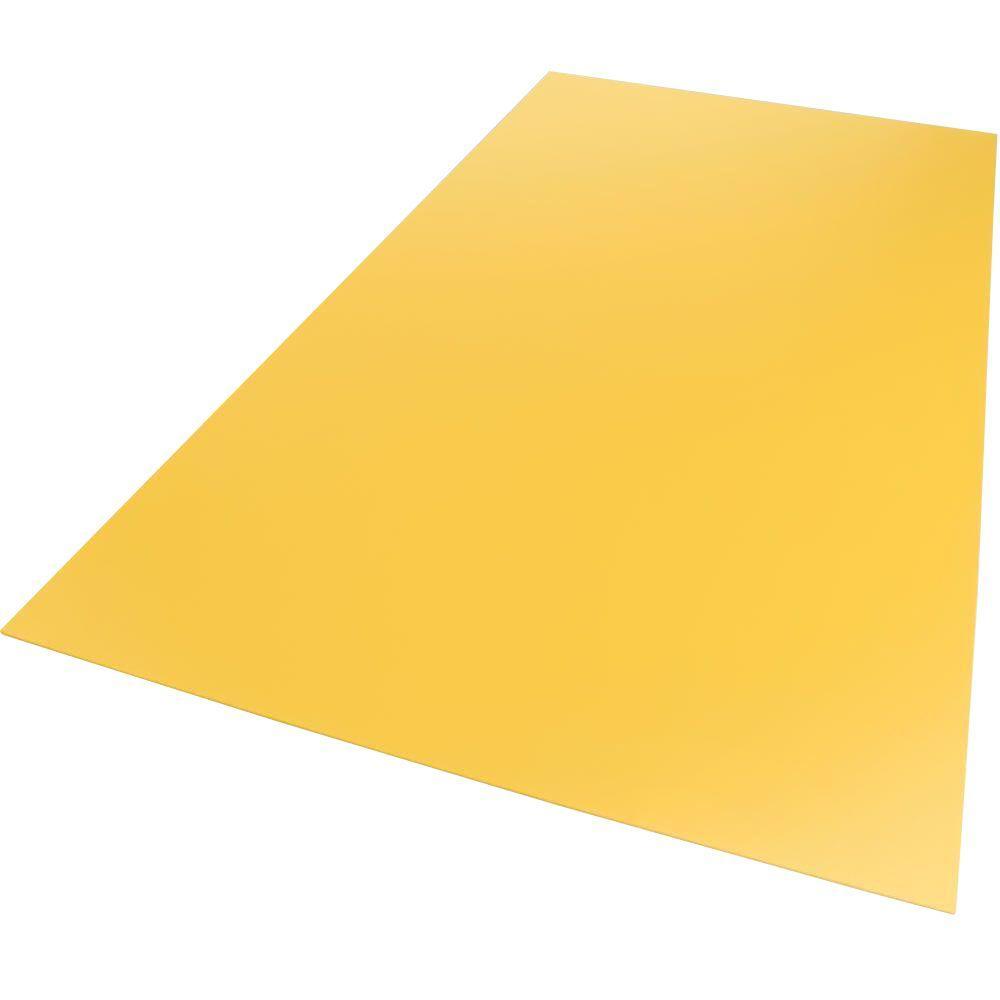 Palight ProjectPVC 24 in. x 24 in. x 0.118 in. Foam PVC Yellow Sheet ...