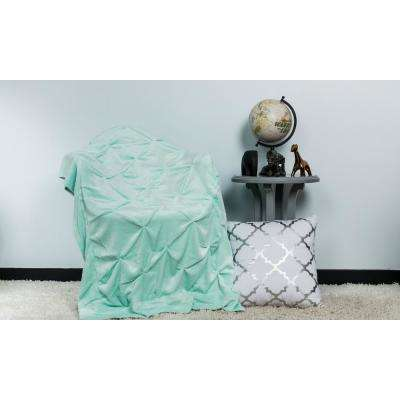 Oona Seafoam Pintuck Throw