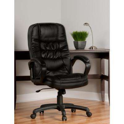 Comfort Products Black Highback Soft-Touch Leather Executive Chair