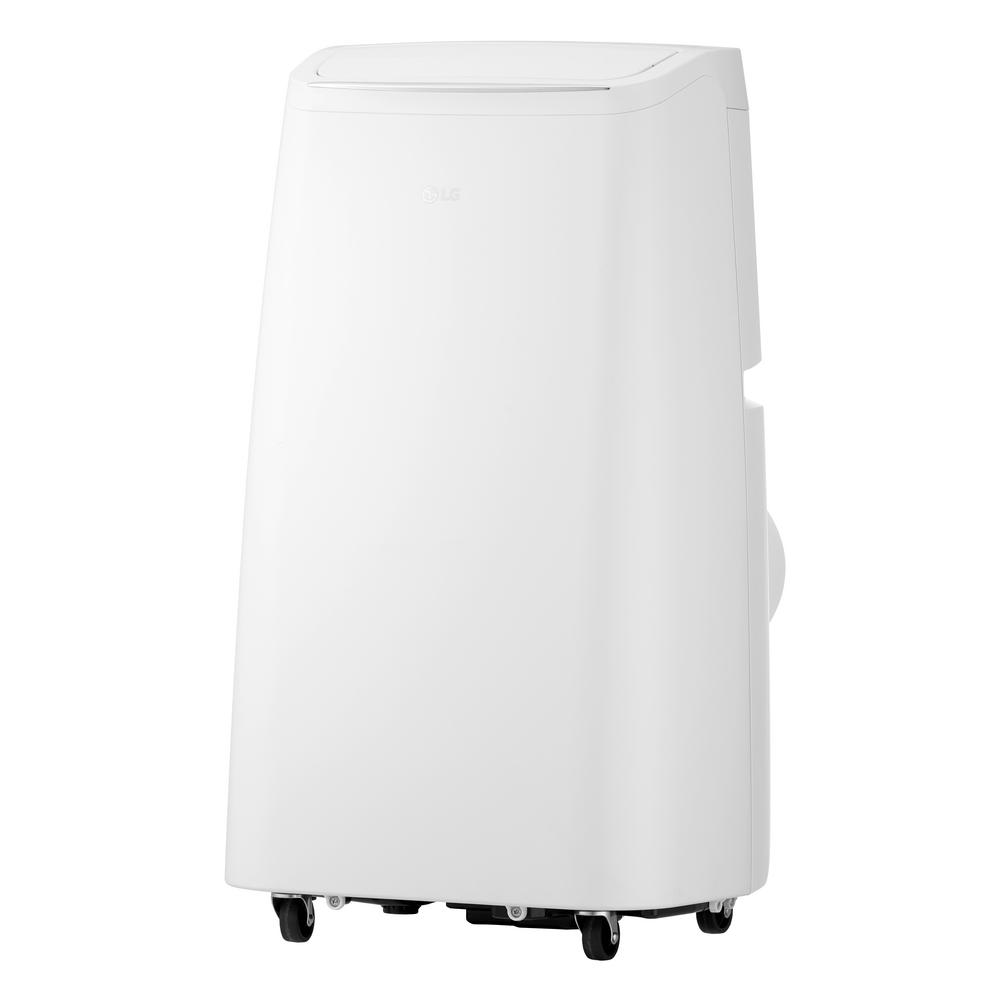 LG Electronics 8,000 BTU (5,500 BTU,DOE), 115-Volt Portable AC w/ Dehumidifier Function and LCD Remote in White