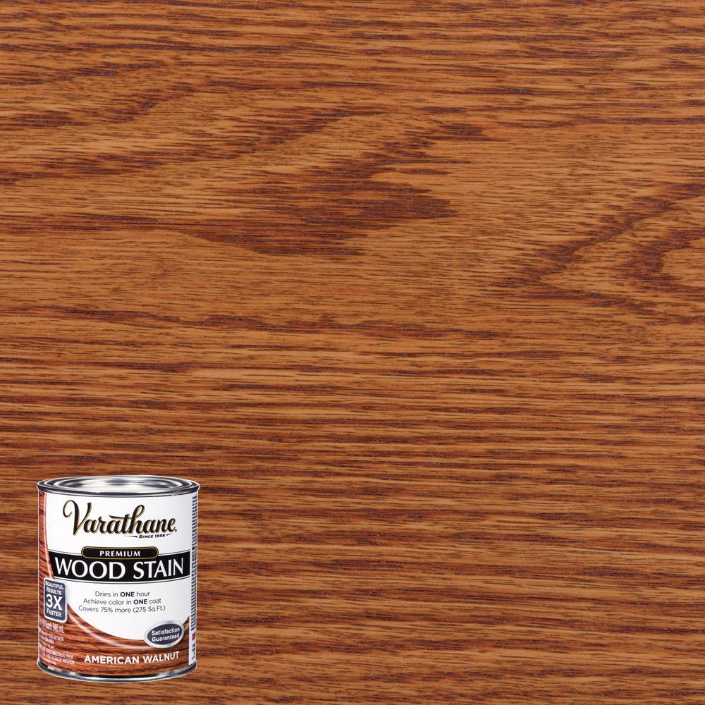 Varathane 1 qt. American Walnut Premium Fast Dry Interior Wood Stain