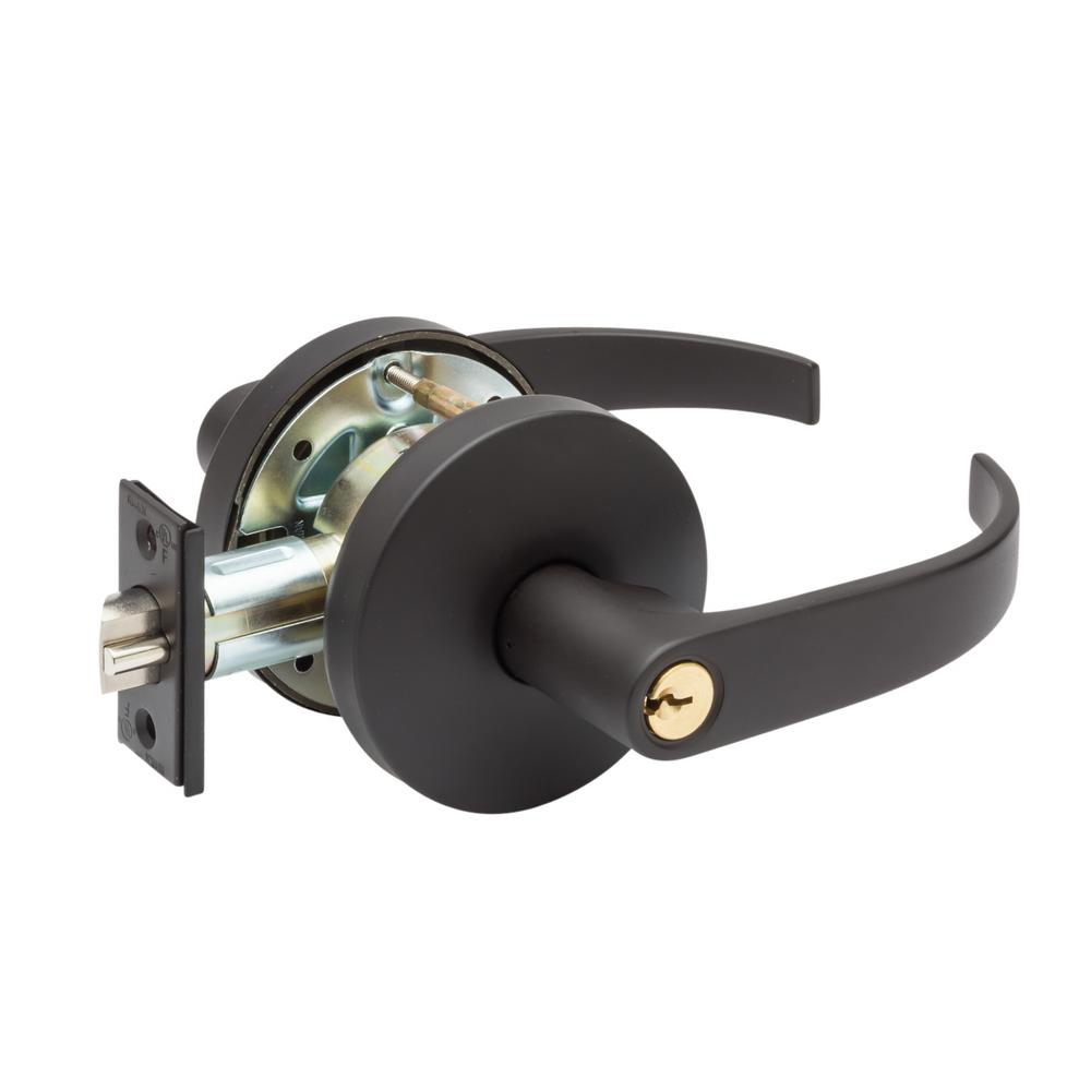 Grade 2 Erin Dark Bronze Cylindrical Entry Door Lever