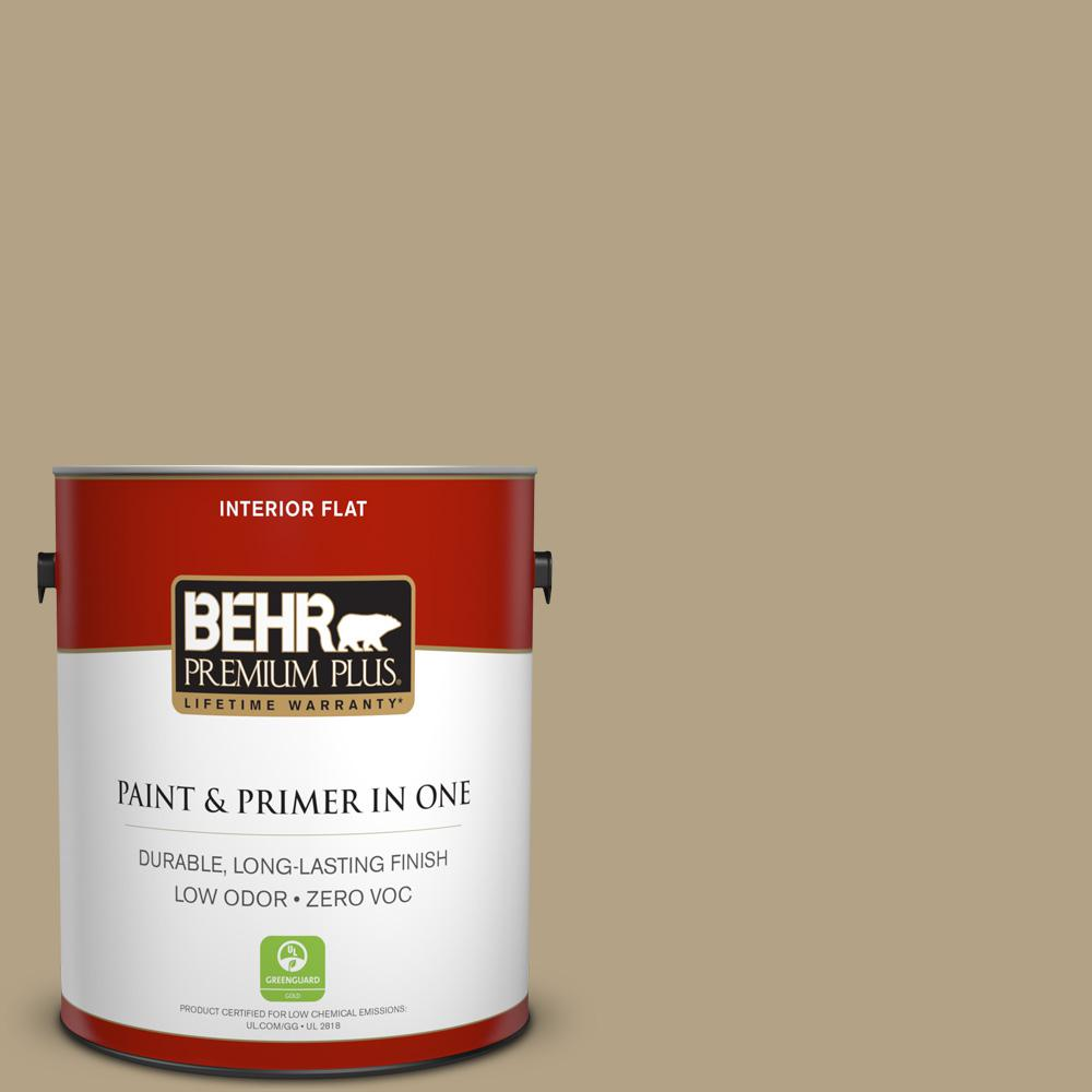1 gal. #PPU8-07 Chamois Tan Zero VOC Flat Interior Paint