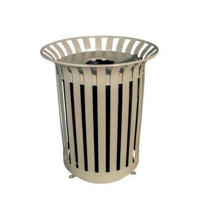 36 Gal. Lexington Trash Receptacle with Flat Top Lid and Liner Outdoor Trash Can