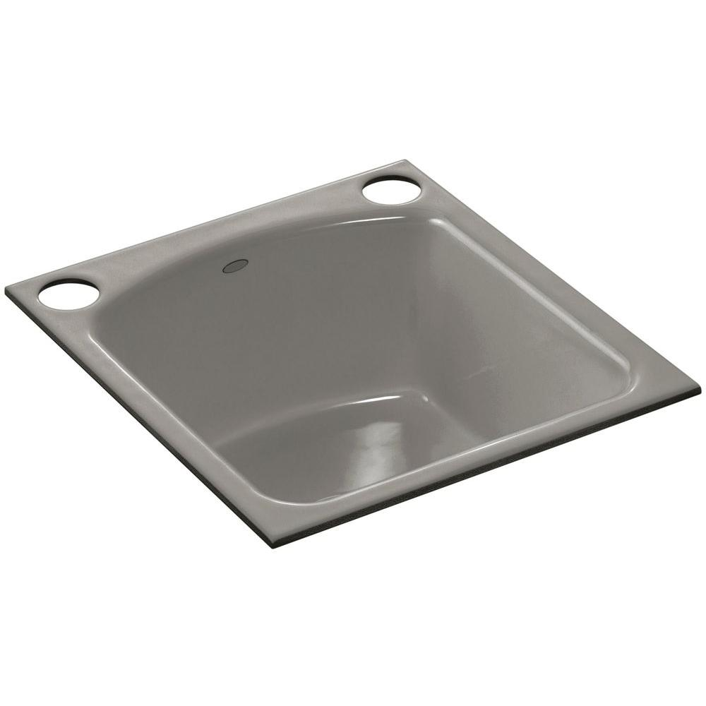 cast iron kitchen sinks undermount kohler napa undermount cast iron 19 in 2 single bowl 8066