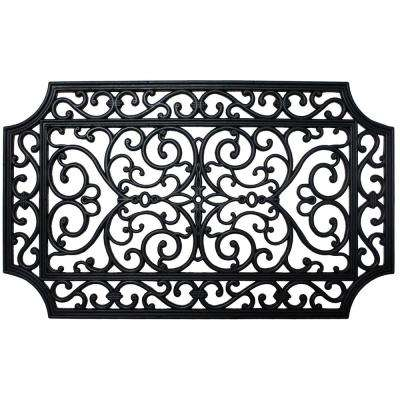 18 in. x 30 in. Rubber French Quarter Door Mat