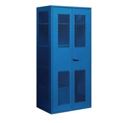 7155 Series 36 in. W x 78 in. H x 24 in. D Military Combination Storage Cabinet in Blue