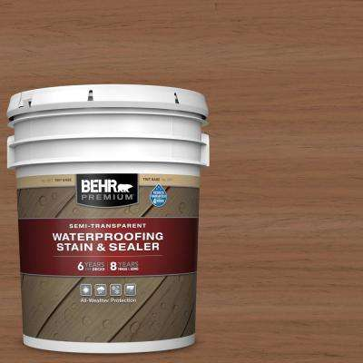 5 gal. #ST-152 Red Cedar Semi-Transparent Waterproofing Exterior Wood Stain and Sealer