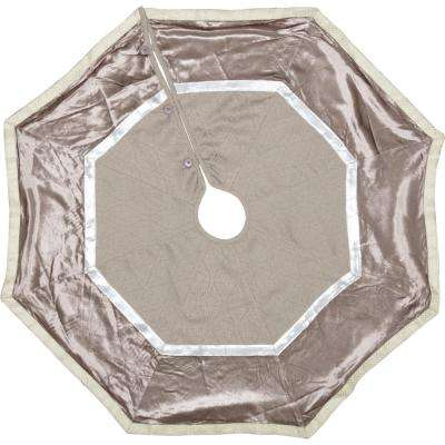 48 in. Allura Dove Grey Glam Christmas Decor Tree Skirt