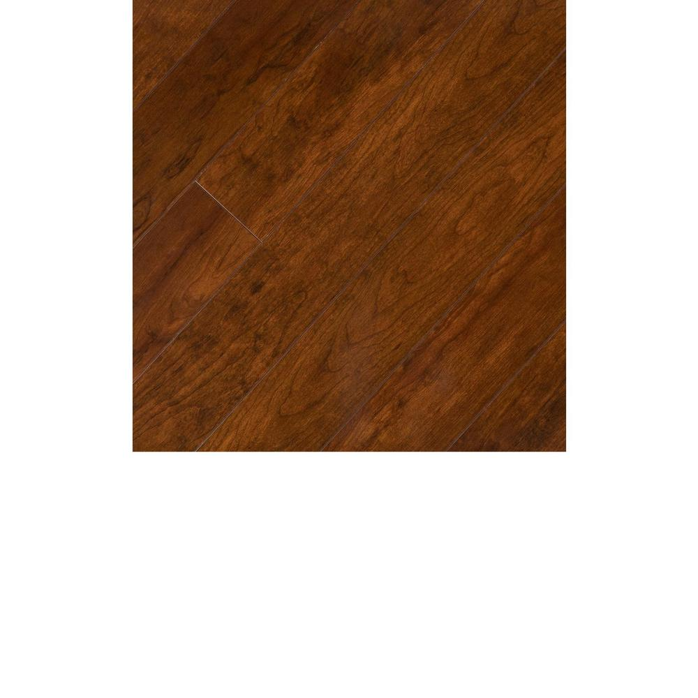 Hampton Bay Take Home Sample Keller Cherry Laminate Flooring 5 In X 7