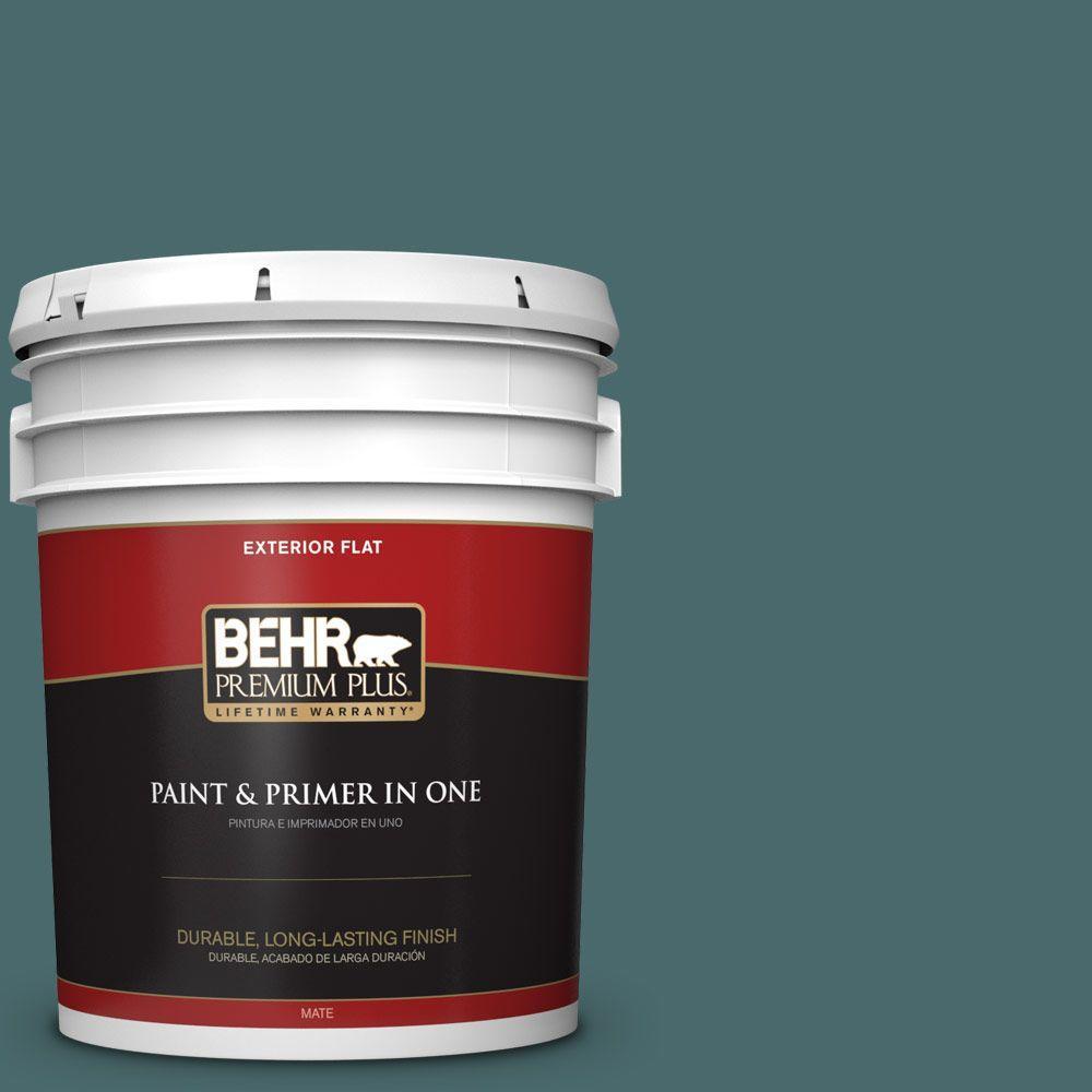 BEHR Premium Plus 5-gal. #510F-6 Solitude Flat Exterior Paint