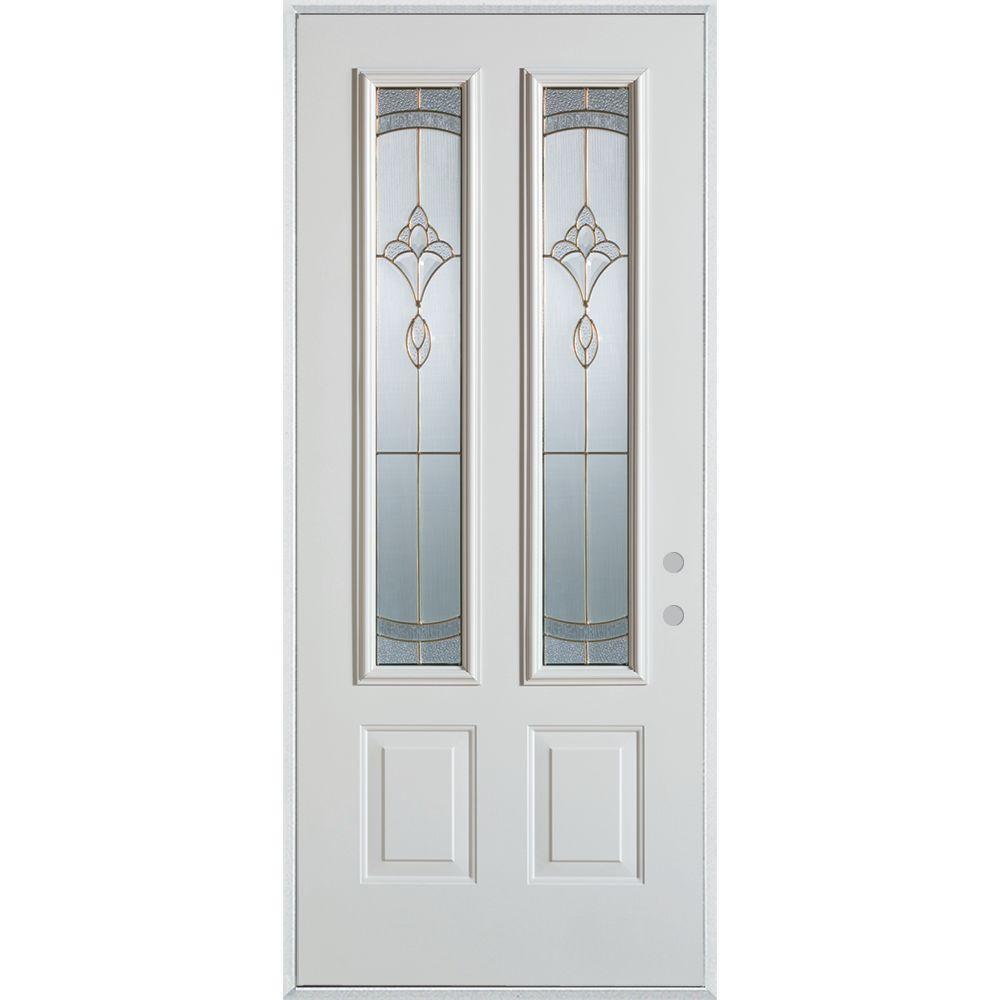 Stanley Doors 32 In X 80 In Traditional Patina 2 Lite 2 Panel