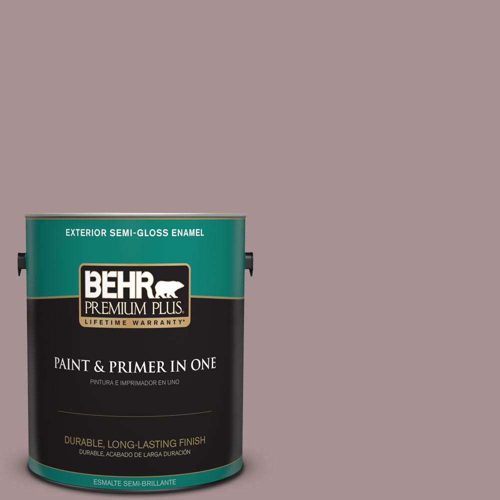 1-gal. #740B-4 Suede Leather Semi-Gloss Enamel Exterior Paint