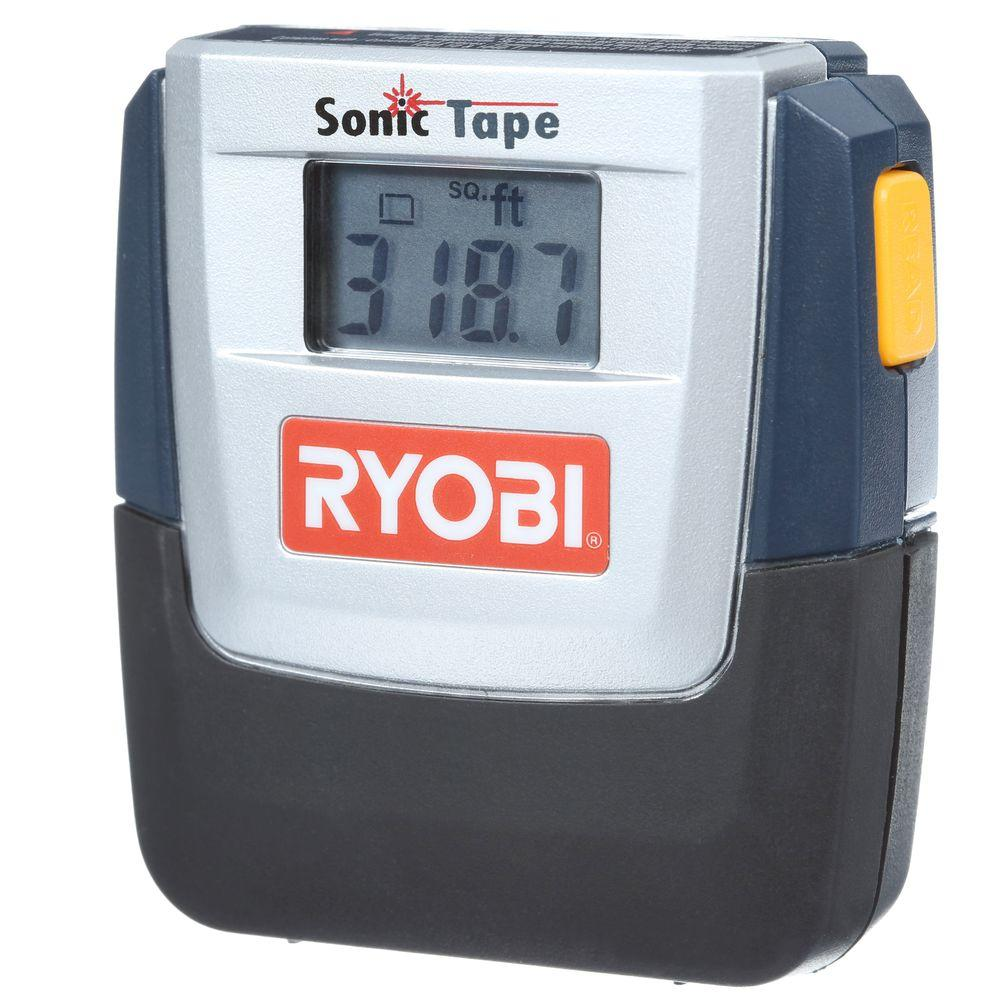 Ryobi 30 ft. Sonic Distance Tape Measure with Laser Pointer
