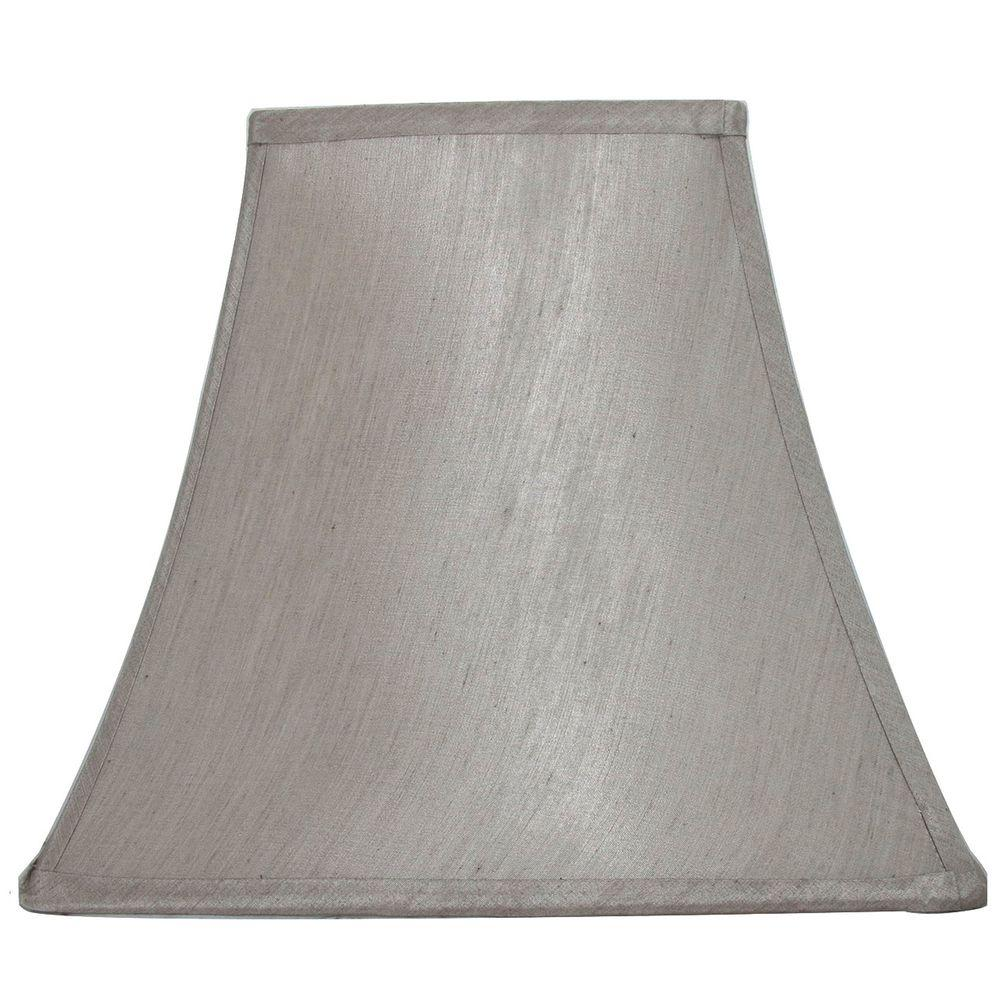 Lamp shades lamps the home depot mix and match bavarian grey square bell table lamp shade mozeypictures Choice Image