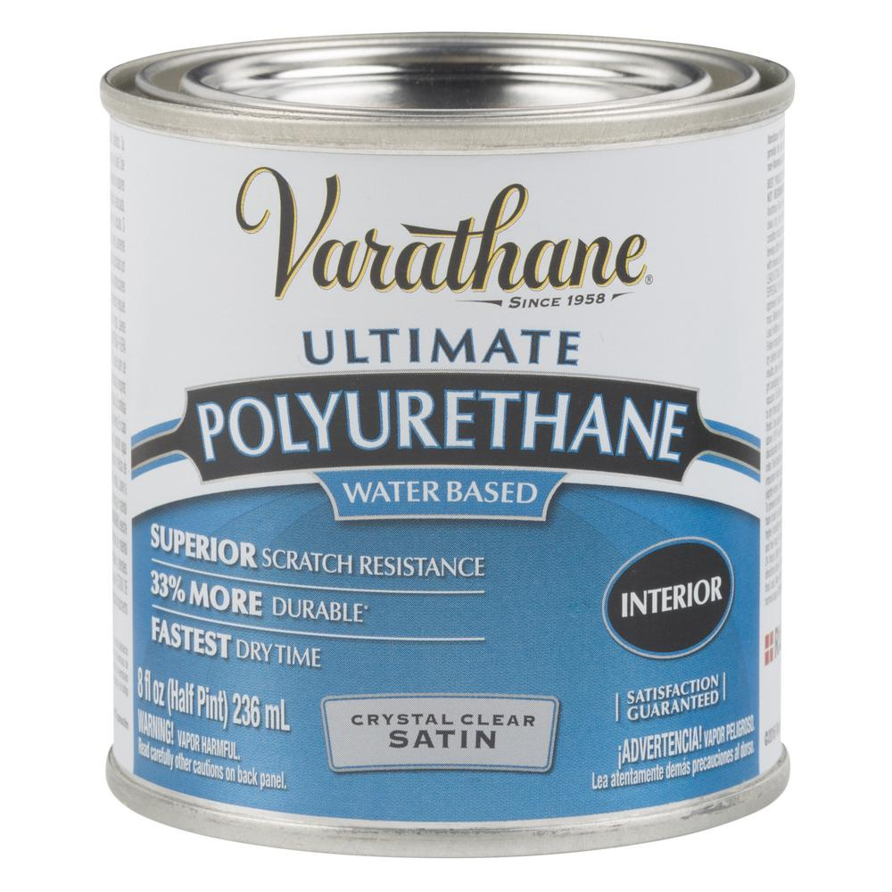 Varathane 8 oz. Clear Satin Water-Based Interior Polyurethane (4-Pack)