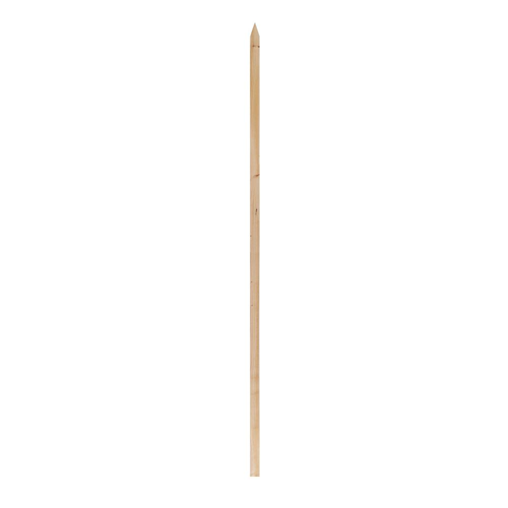 Outdoor Essentials 4 Ft Pointed Wood Garden Stake 349466 The Home Depot