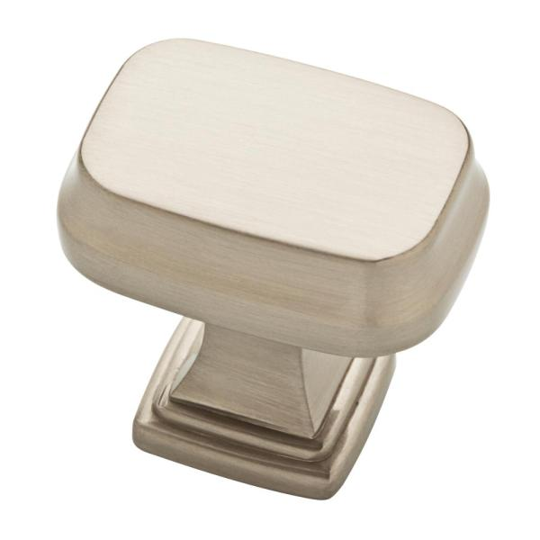 Brightened Opulence 1-5/16 in. (33mm) Satin Nickel Square Cabinet Knob
