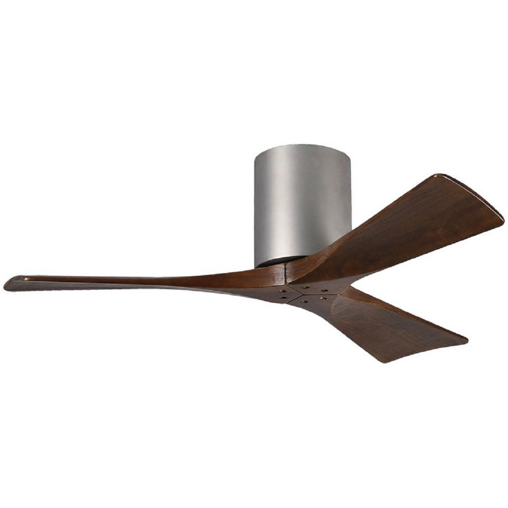 Irene 42 in. Indoor/Outdoor Brushed Nickel Ceiling Fan with Remote Control