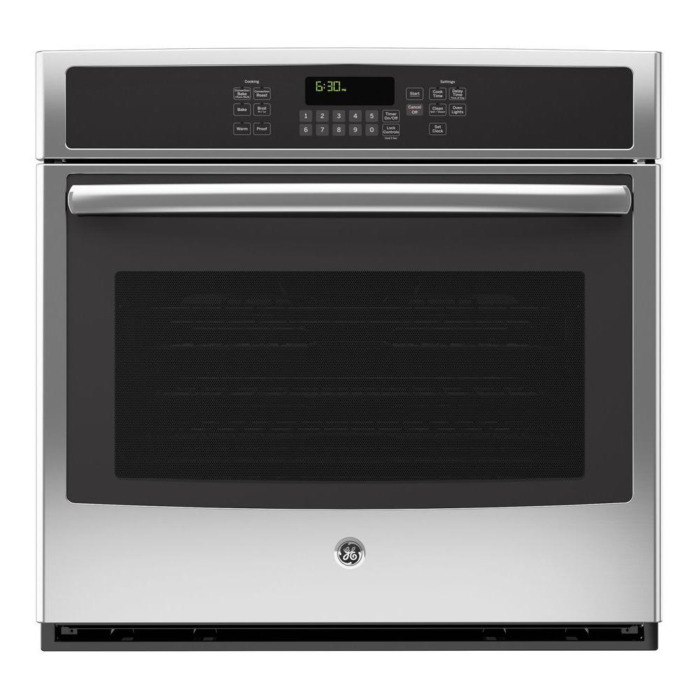 30 in. Single Electric Wall Oven Self-Cleaning with Steam in Stainless