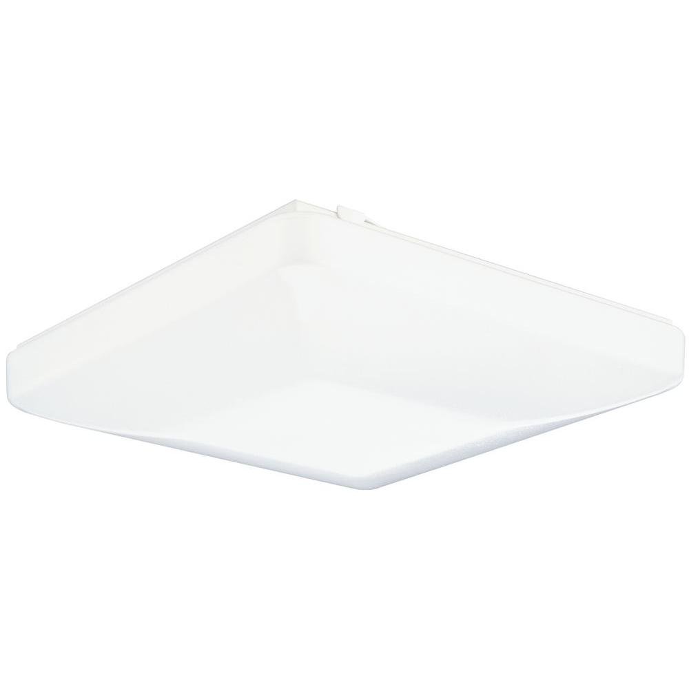 Lithonia Lighting Low-Profile 2-Light White Residential Fixture