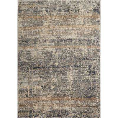 Kenmare Saffron Gray/Beige 31.5 in. x 47 in. Indoor Area Rug