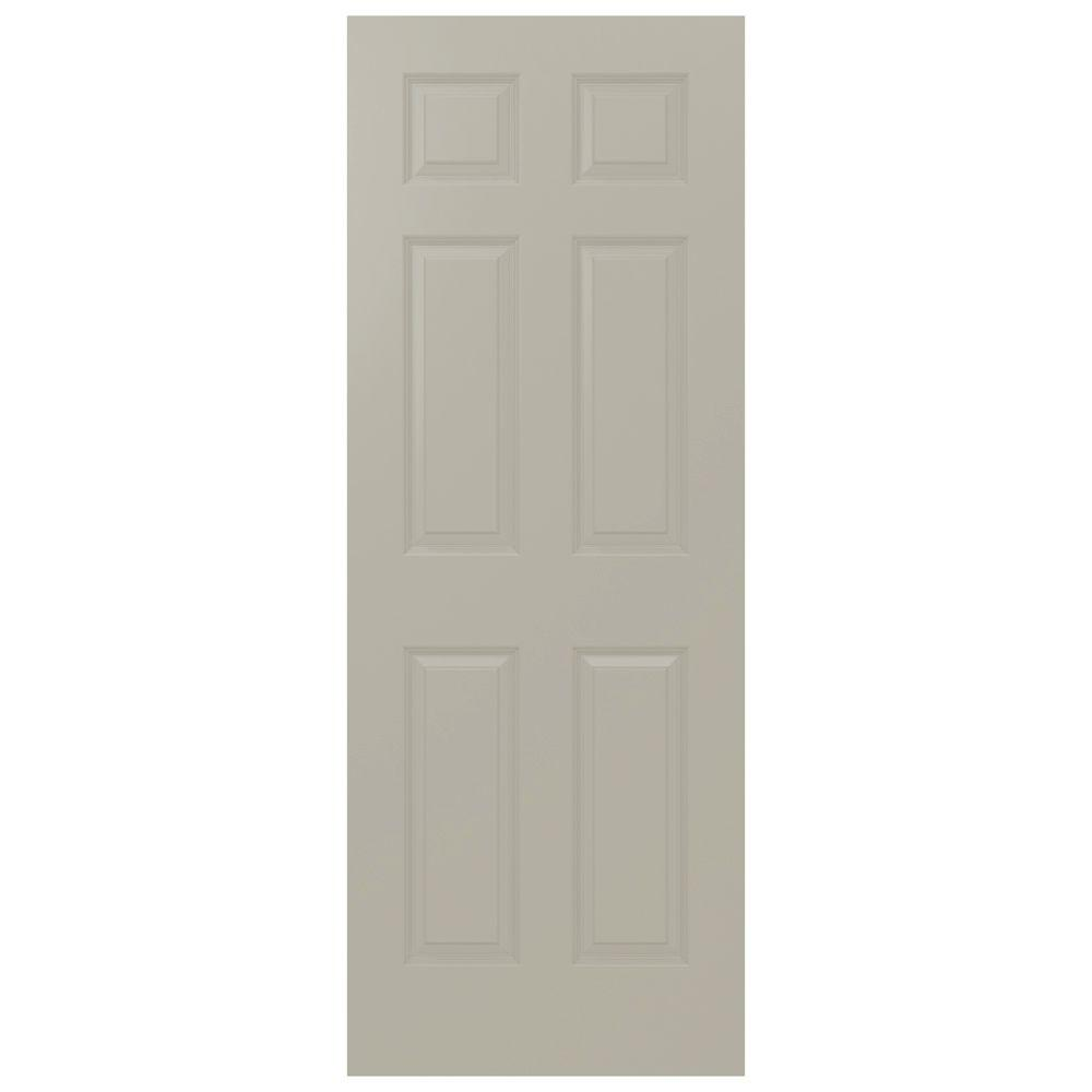 JELD-WEN 32 in. x 80 in. Colonist Desert Sand Painted Smooth Solid Core Molded Composite MDF Interior Door Slab