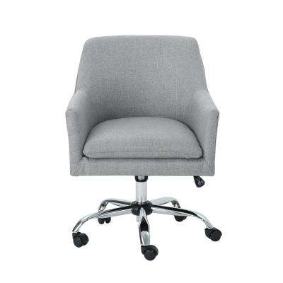 fddaac497e0f Johnson Mid-Century Modern Gray Fabric Adjustable Home Office Chair with  Wheels