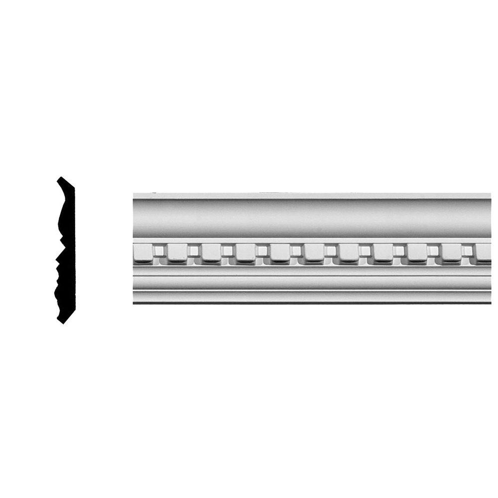 2-3/4 in. x 2-3/4 in. x 94-5/8 in. Polyurethane Dentil Crown