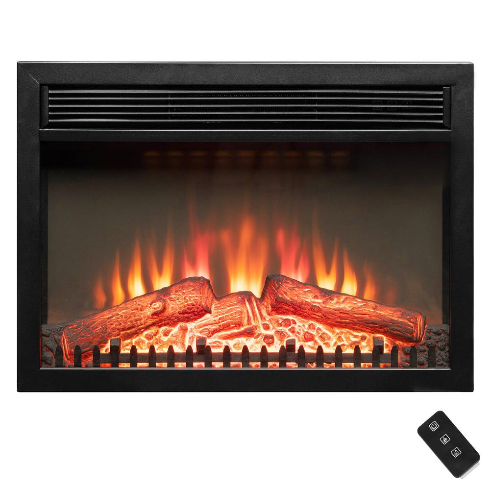 Akdy 24 In Freestanding Portable Electric Fireplace Heater In Black