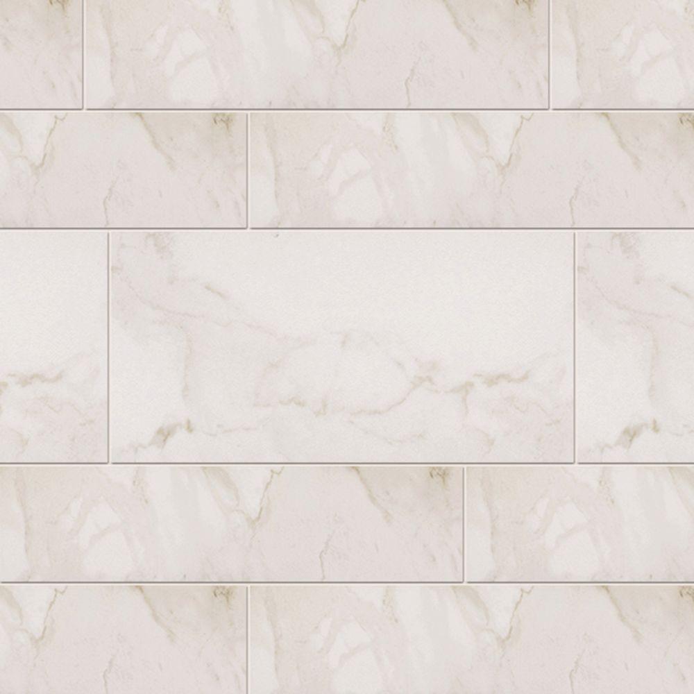 Marazzi VitaElegante Bianco 6 in. x 24 in. Porcelain Floor and Wall Tile (14.53 sq. ft. / case)