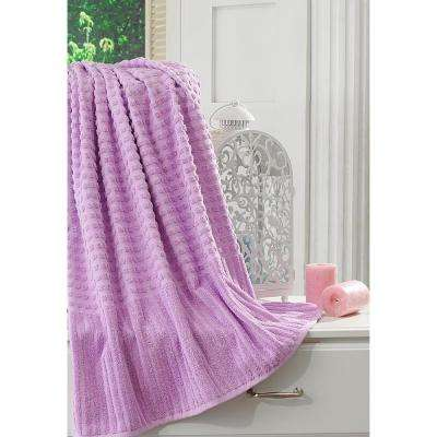 Pure Turkish Cotton Collection 27 in. W x 55 in. H Luxury Bath Towel in Lavender