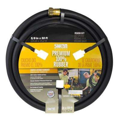 5/8 in. Dia x 50 ft. Premium Rubber Heavy Duty Water Hose