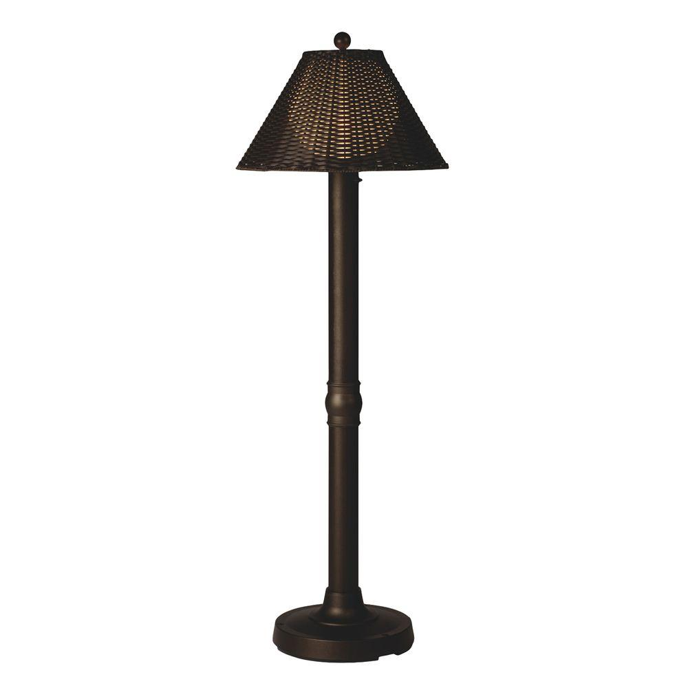 Genial Patio Living Concepts Tahiti II 60 In. Bronze Floor Lamp With Walnut Wicker  Shade