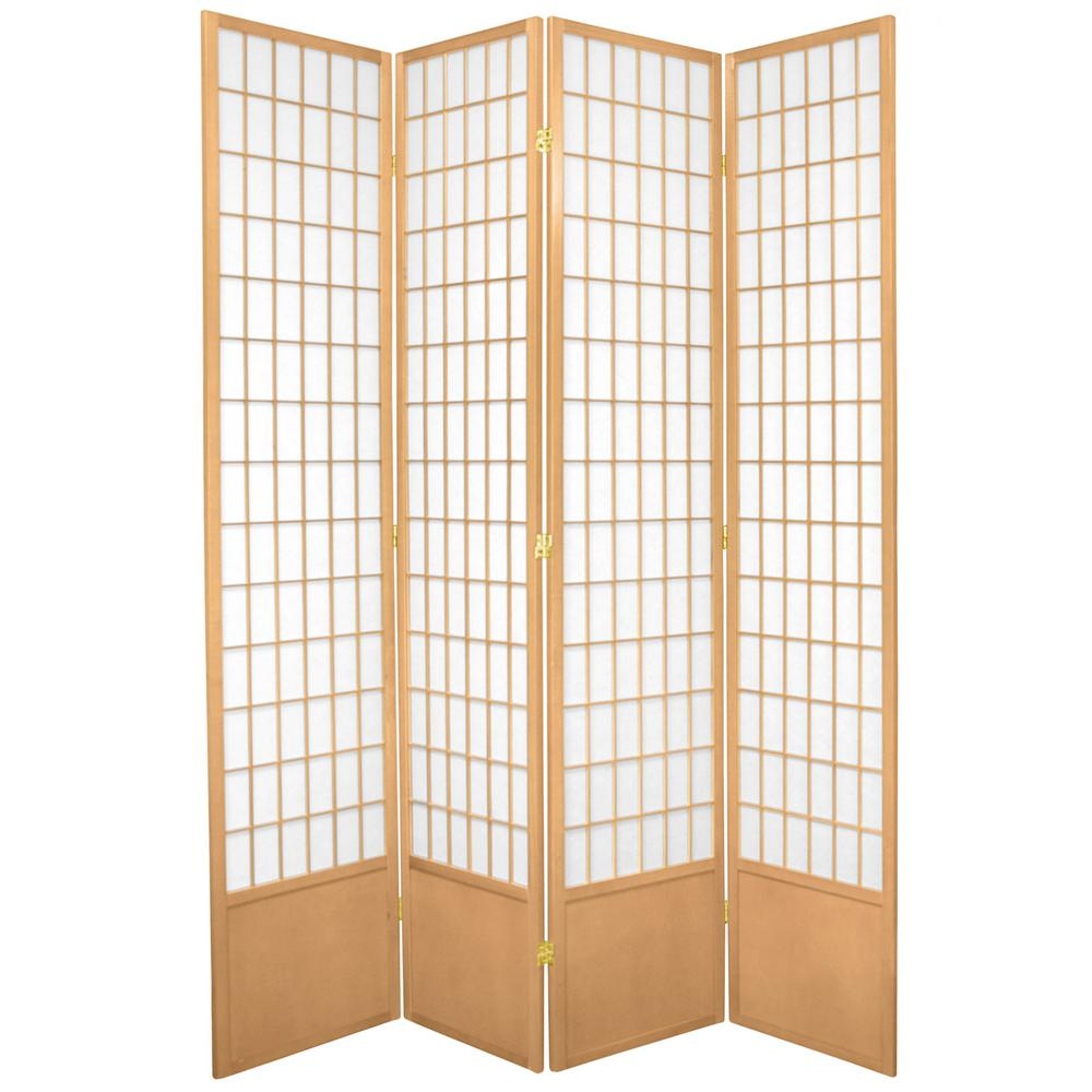 7 ft. Natural 4-Panel Room Divider